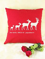 Недорогие -красный лось дикая природа принт хлопок / белье подушка крышка домашнее украшение