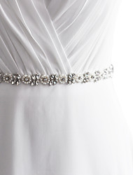 Raso Matrimonio / Party/serata / Da giorno Fusciacca-Con lustrini / Con perline / Con applique / Con perle / Diamantini Da donna 250cmCon