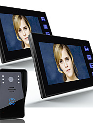 ENNIO 7 Video Door Phone Intercom Doorbell 1000TVL Outdoor Security Camera  2pcsIndoor Monitor