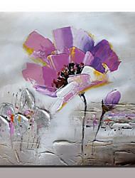 abordables -Pintada a mano Abstracto / Floral/Botánico Pinturas de óleo,Modern Un Panel Lienzos Pintura al óleo pintada a colgar For Decoración
