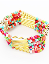 7 Colors Summer Bohemia  Fashion Jewelry Accessories Colorful Beads Charm Bracelets For Women Gift