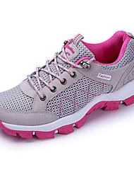 Недорогие -Жен. Обувь Тюль Весна Осень Удобная обувь Кеды Для пешеходного туризма На плоской подошве для Атлетический Серый Лиловый Пурпурный