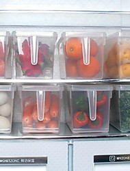 Large Refrigerator Food Grade Storage Box with Handle Grains Fruits and Vegetables Crisper