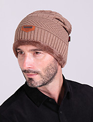 cheap -Ski Hat Men's / Women's Keep Warm / Thermal / Warm Snowboard Wool Solid Color Winter Sports