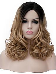 cheap -Synthetic Wig Curly Synthetic Hair Brown Wig Women's Medium Length Capless Light Brown