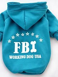 preiswerte -Katze Hund Kapuzenshirts Hundekleidung Lässig/Alltäglich Sport Buchstabe & Nummer Schwarz Gelb Rot Blau Kostüm Für Haustiere
