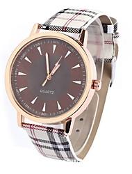 Men's Vintage Grid Design Casual Wrist Quartz Watch