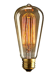 cheap -1pc 40W E27 E26 / E27 E26 ST64 Warm White 2300k Incandescent Vintage Edison Light Bulb 110-220V 220-240V