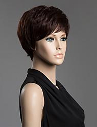 Donna Parrucche senza cappuccio per capelli umani Strawberry Blonde candeggiante / biondo Marrone / Scuro Auburn Media Auburn / Bleach