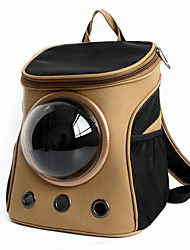 cheap -Cat Dog Carrier & Travel Backpack Astronaut Capsule Carrier Pet Carrier Portable Breathable Solid Khaki