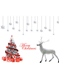 Wall Stickers Wall Decals Style Christmas Tree White Elk PVC Wall Stickers
