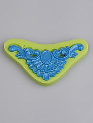 abordables -3d molde de silicona vintage broche de fondant herramientas de decoración de pasteles galleta chocolate ramdon color