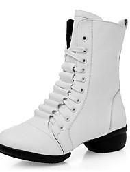 economico -Scarpe da ballo-Non personalizzabile-Da donna-Moderno / Stivali di danza-Basso-Di pelle-Nero / Rosso / Bianco