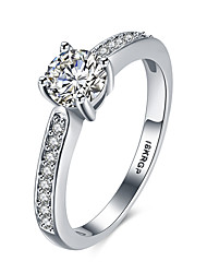 cheap -Women's Band Rings Costume Jewelry Fashion Vintage Personalized Hypoallergenic Platinum Sterling Silver Zircon Cubic Zirconia 18K gold