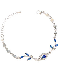 Femme Filles´ Chaînes & Bracelets Alliage Résine Imitation de diamant Mode Forme de Feuille Argent Bijoux 1pc