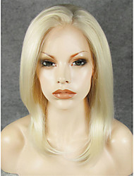 IMSTYLE 14 Heat Resistant Fiber Natural Straight Synthetic Lace Front Wigs