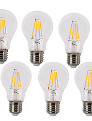 cheap -4W E26/E27 LED Filament Bulbs A60(A19) 4 COB 400 lm Warm White Cold White K Waterproof Decorative AC 220-240 V