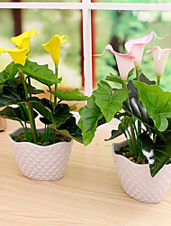 1PCS Graceful Miniascape Fake Calla Lily Tree Home Decor Artificial Flower