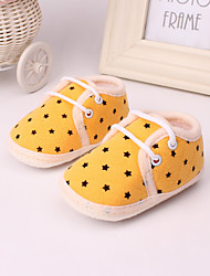 Unisex Baby Shoes Fleece Spring Fall Loafers & Slip-Ons Flat Heel For Casual Yellow Blue Blushing Pink
