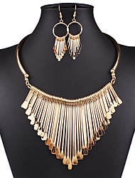 cheap -Women's Jewelry Set Earrings Necklace - Vintage Sexy Statement Fashion European Jewelry Gold Silver Jewelry Set Drop Earrings Bib