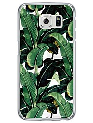cheap -Green Leaf Tile Pattern Soft Ultra-thin TPU Back Cover For Samsung GalaxyS7 edge/S7/S6 edge/S6 edge plus/S6/S5/S4