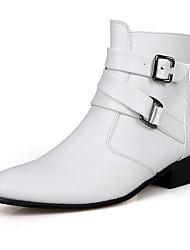 cheap -Men's Boots Fall / Winter Comfort PU Casual Flat Heel  Black / Brown / White Sneaker