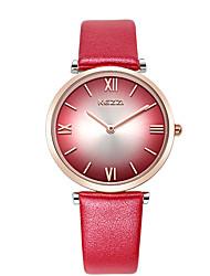 cheap -Women's Fashion Watch Wrist watch / Quartz Genuine Leather Band Casual Cool Black White Red Grey