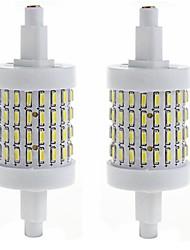 Недорогие -SENCART 450-500lm R7S LED лампы типа Корн Утапливаемое крепление 72 Светодиодные бусины SMD 4014 Декоративная Тёплый белый / Холодный