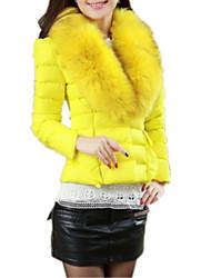 Недорогие -Новая осень зима женские короткие хлопка вниз перо пальто