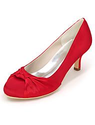 economico -Per donna Scarpe Raso Primavera / Estate Decolleté scarpe da sposa Zero A stiletto Punta tonda Zero Drappeggio a lato Blu / Champagne /