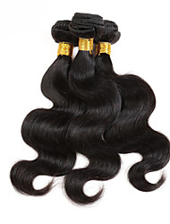 cheap -Brazilian Hair / Bundles Body Wave Virgin Human Hair Natural Color Hair Weaves 3 Bundles 8-12 inch Human Hair Weaves Hot Sale / 100% Virgin Natural Black Human Hair Extensions