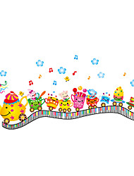 Wall Stickers Wall Decals Style Cartoon Animal Cup Mini Train PVC Wall Stickers