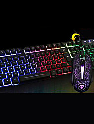 cheap -Chief Shadow T6 Luminous Keyboard Mouse Suit Desktop Computer Usb Cable Keyboard