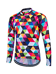 cheap -Fastcute Men's Long Sleeves Cycling Jersey Bike Jersey, Thermal / Warm, Quick Dry, Breathable, Sweat-wicking