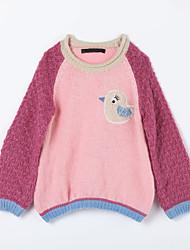 preiswerte -Pullover & Cardigan Alltag Einfarbig Baumwolle Herbst Rosa