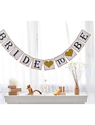 Rustic Wedding Bachelorette Party Banner Bride To Be with Glittered Hearts Bridal Shower Bunting Garlands Sign