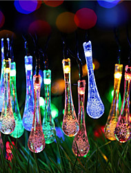cheap -Solar Christmas Lights Water Drop 13ft 20 LED Waterproof Solar Light String Outdoor for Gardens,Wedding,Christmas Tree