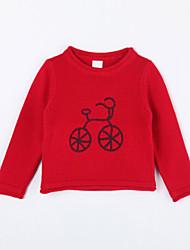 povoljno -Pamuk Jednobojni Dnevno Jesen Džemper i kardigan Crvena