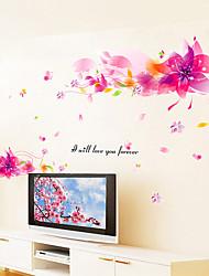 abordables -Nature morte Romance Botanique Stickers muraux Autocollants avion Autocollants muraux 3D Autocollants muraux décoratifs, Vinyle