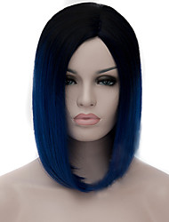 cheap -Synthetic Wig Synthetic Hair Blue Wig Women's Capless