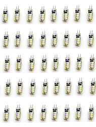 abordables -50pcs 2W 90-110lm G4 LED à Double Broches T 24 Perles LED SMD 3014 Décorative Blanc Chaud Blanc Froid 12V