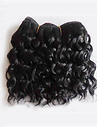 Short Length 50g/pcs Brazilian Virgin Hair Deep Wave Natural Black Unprocessed Raw Virgin Human Hair Weaves