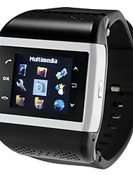 baratos -Relógio inteligente para Android Suspensão Longa / Chamadas com Mão Livre / Radio FM / Tela de toque / Video Cronómetro / Aviso de Chamada / Calendário / 512MB / Câmera