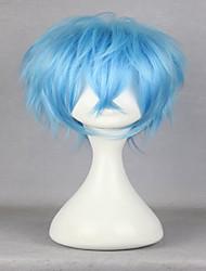 abordables -Pelucas sintéticas / Pelucas de Broma Rizado Pelo sintético Azul Peluca Hombre Corta Sin Tapa