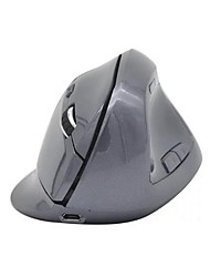 cheap -MIIMALL Novelty Rechargerable Ergonomic Optical Wireless Vertical Mouse for Computer and Laptop (Gray)