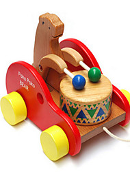 The Wooden Drum Bear Baby Toddler Climbing Drag Children Puzzle Educational Toys