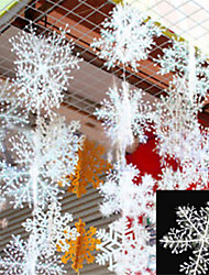 30Pcs Christmas Snow flakes White Snowflake Ornaments Holiday Christmas Tree Decortion Festival Party Home Dcor