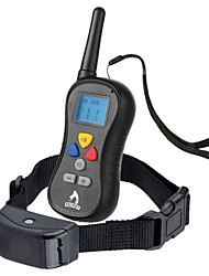 Bellhalsband Training - Hundhalsbänder Wasserdicht Anti Bark Fernbedienung LCD 300M Vibration Solide Nylon