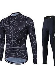 cheap -Fastcute Cycling Jersey with Tights Men's Women's Unisex Long Sleeves Bike Tracksuit Jersey Tights Top Clothing Suits Bottoms Quick Dry
