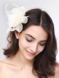 cheap -Tulle Feather Net Fascinators Headpiece Classical Feminine Style